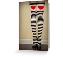 Hearts & Stripes Greeting Card