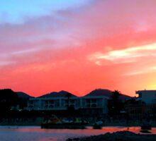 Cala Llonga Sunset Sticker
