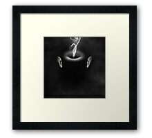 Portrait of a virtual mind. The Oval. Framed Print
