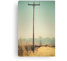Telephone poles. Canvas Print