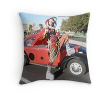 Jester in Vegas Throw Pillow
