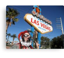 Peace Jester in Las Vegas Canvas Print