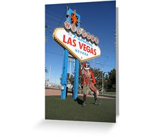 Court Jester in Las Vegas Greeting Card