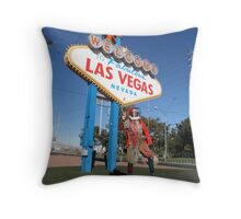 Court Jester in Las Vegas Throw Pillow
