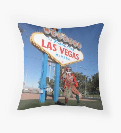 Court Jester in Las Vegas Throw Pillow