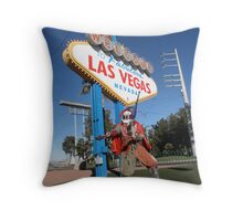 Juggle Jester in Vegas Throw Pillow