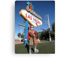 Juggling Jester in Las Vegas Canvas Print
