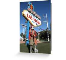 Juggling Jester in Las Vegas Greeting Card