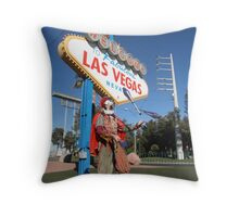 Juggling Jester in Las Vegas Throw Pillow