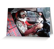 Jester Driving Greeting Card