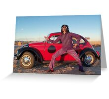Rocker in the Desert Greeting Card