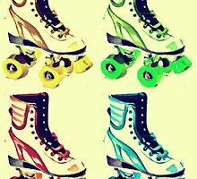 Vintage Roller Skates Pop Art by Arts4U