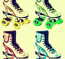 Vintage Roller Skates Pop Art by Arts4U
