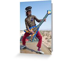 Air Guitarist Greeting Card