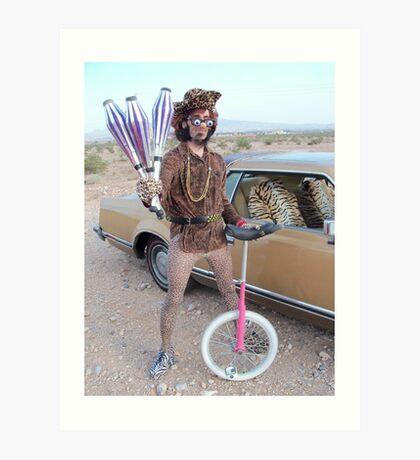 Juggler & Unicycle Clown Art Print