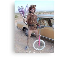 Juggler & Unicycle Clown Canvas Print