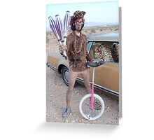 Juggler & Unicycle Clown Greeting Card