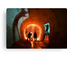 Drain Junkies.. Canvas Print