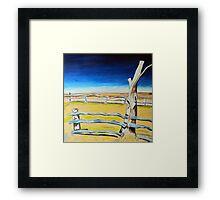 Outback Gumtree Framed Print