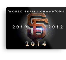 SF Giants World Series Champs X 3 MOS Metal Print