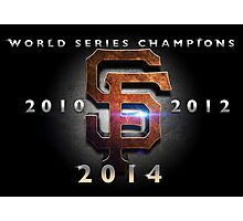 SF Giants World Series Champs X 3 MOS Photographic Print