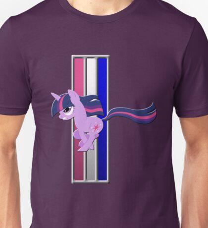 Mustang Twilight Sparkle (Unicorn) (Logo) Unisex T-Shirt