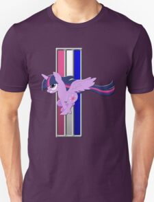 Mustang Twilight Sparkle (Alicorn) (Logo) T-Shirt