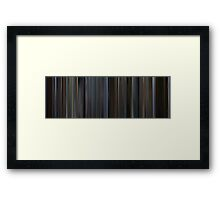 Moviebarcode: The Bourne Identity (2002) Framed Print