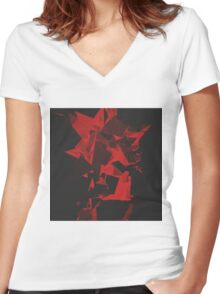 Herocosi Women's Fitted V-Neck T-Shirt