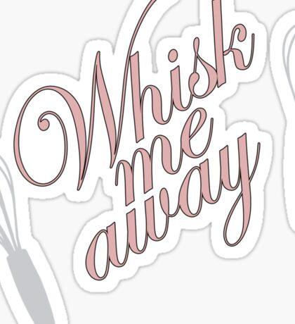 Retro Woman Whisk Me Away T-Shirt Sticker