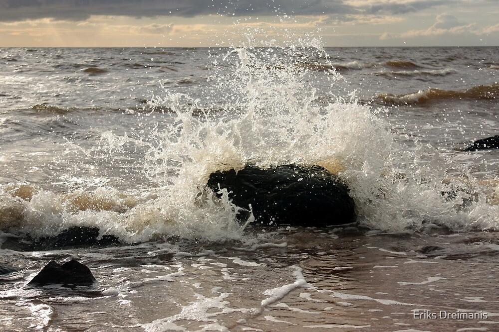 Waves splash by Eriks Dreimanis