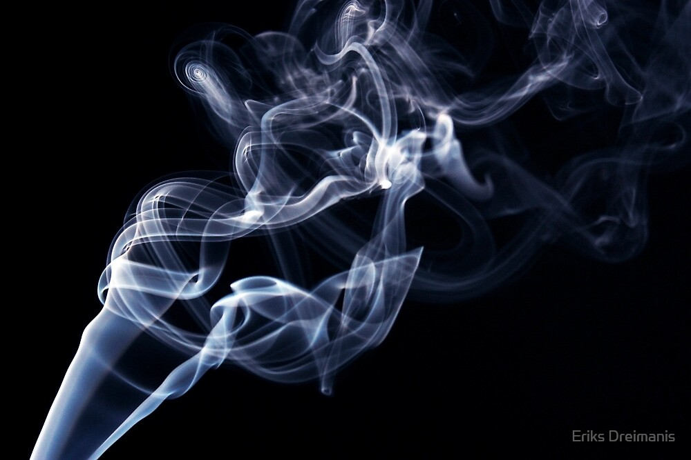 Blue smoke in the air by Eriks Dreimanis