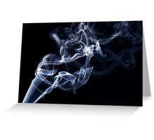 Blue smoke in the air Greeting Card