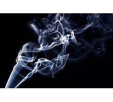 Blue smoke in the air Photographic Print