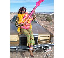 Psychedelic Rockstar  Photographic Print