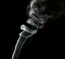 Thin flow of smoke by Eriks Dreimanis