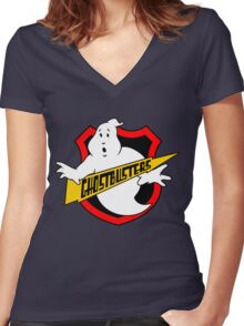 Ghost Busters Redux Women's Fitted V-Neck T-Shirt