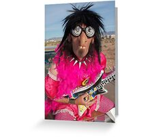Pink Glam Rock Queen Greeting Card