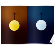Warm/Cold diptych Poster