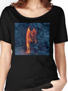 Lava Flow at Kalapana 8 Women's Relaxed Fit T-Shirt