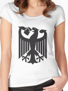 Germany coat of arms eagle beer  Women's Fitted Scoop T-Shirt