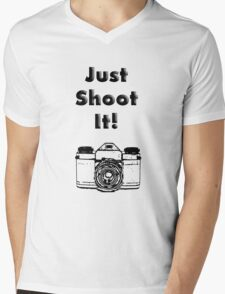 Just Shoot it Mens V-Neck T-Shirt