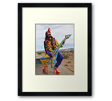 Punk Clown Framed Print