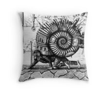Life in the Shell surreal ink pen drawing Throw Pillow