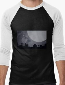 Monster Bunnies are coming! by Aglaia Mortcheva Men's Baseball ¾ T-Shirt