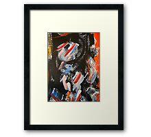 cityscape man.... Framed Print