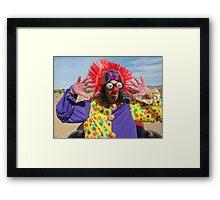 Clown Punk Framed Print