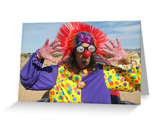 Clown Punk Greeting Card