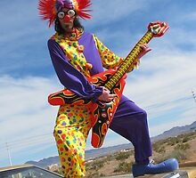 Clown Punk Guitarist by jollykangaroo