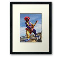Clown Punk Guitarist Framed Print